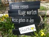 Foto Gartenschild