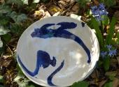 Keramikteller blauweiß